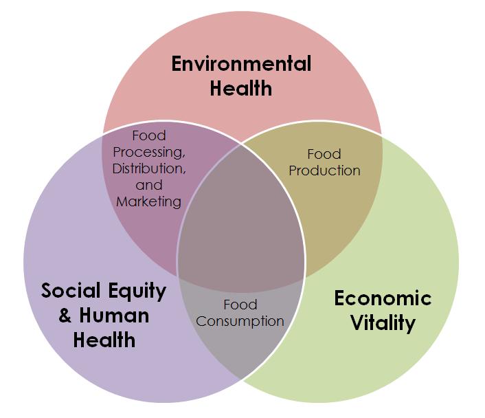 Food system diagram
